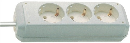 Steckdosenleiste 3fach weiß L.1,5m H05VV-F BRENNENSTUHL