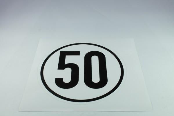 Geschwindigkeitsschild - 50 k