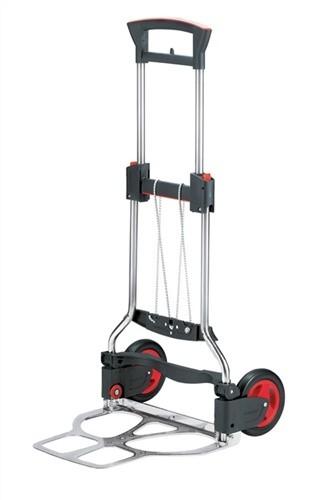 Transportkarre klappbar Edelstahl Tragfähigkeit 125kg H.1130mm Polymerräder