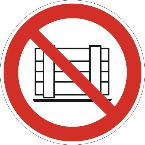 Folie Abstellen o. Lagern verboten D.200mm rot/schwarz ASR A1.3 DIN EN ISO 7010