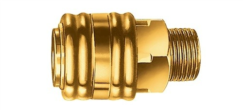 Einhandkupplung G1/4Zoll AG. a.Ms.