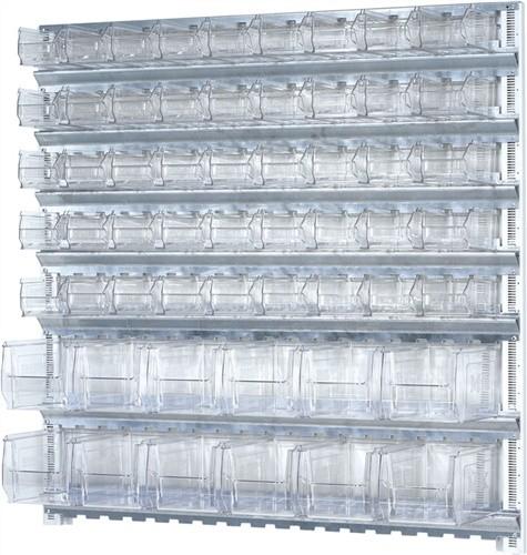 Wandschiene H1000xB1010mm m.7 Schienen 45xMK5 12xMK4 transparent PROMAT