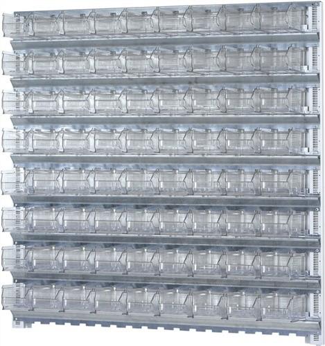 Wandschiene H1000xB1010mm m.8 Schienen 72xMK5 transparent PROMAT