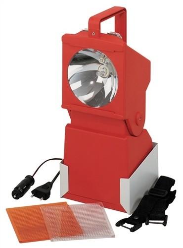 Arbeits-/Notstromleuchte HaloLux 90A 230V/12-24V rot ACCULUX Leucht-W.100m