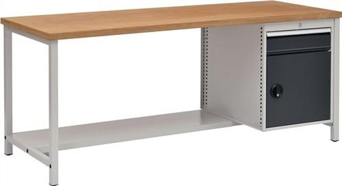 Werkbank B2000xT750xH859 grau/anthr.Schublade 1x150 Tür 1x450 40mm Multiplex