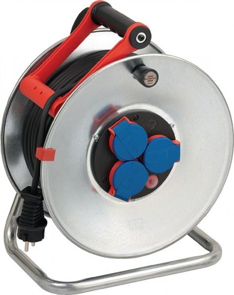 Kabeltrommel 50m N05V3V3-F3G1,5mm2 3fach Steckdose/Thermostat IP44Garant S290