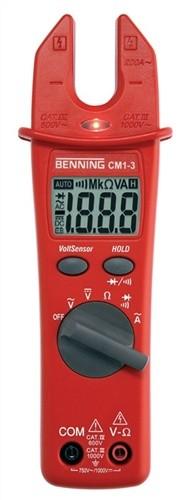 Stromzangen-Multimeter 0,1 V-750 V AC 0,1 A-200 A Wechselstr. M.Batterien CM 1-3