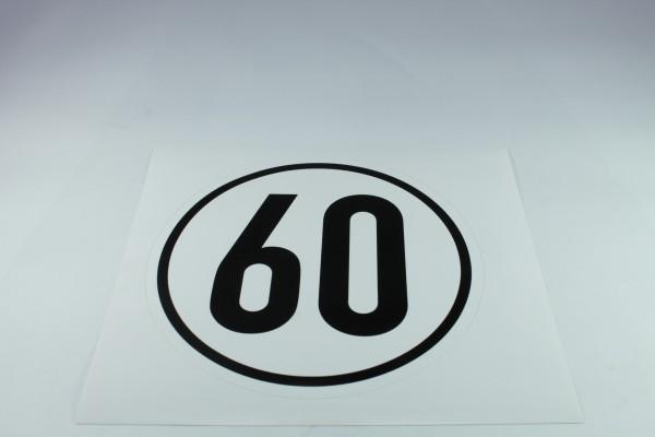 Geschwindigkeitsschild - 60 k
