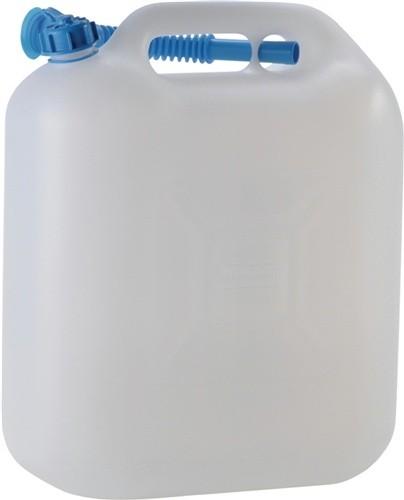Wasserkanister 20l PE natur H445xB415xT180mm m.Auslaufrohr Einfüllöffnung-D.29mm