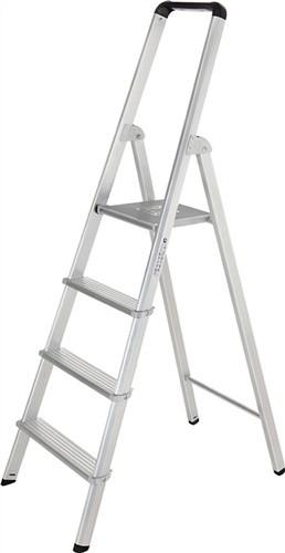 Stufenstehleiter ML Aluminium 5 Stufen einseitig begehbar
