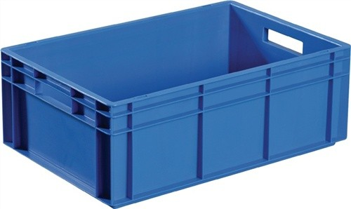 Transportstapelbehälter 10l PP blau Seitenwände geschl. Muschelgriff PROMAT