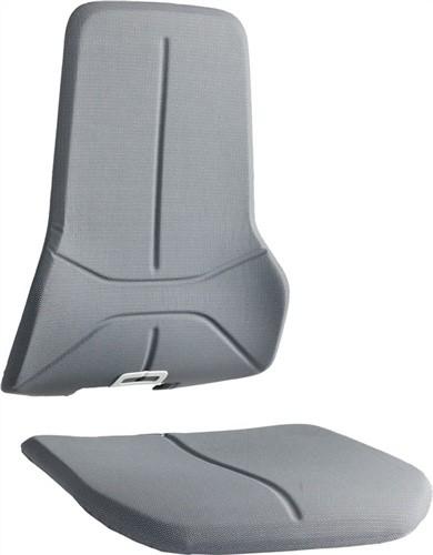 Wechselpolster Neon Supertec-Gewebe grau für Sitz u.Rückenlehne BIMOS