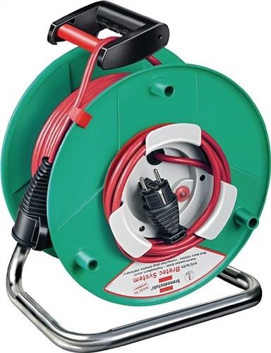 PVC-Gerätekabeltrommel 50m N05V3V3-F3G1,5mm2 m.Thermoschutz IP44 Garant Bretec