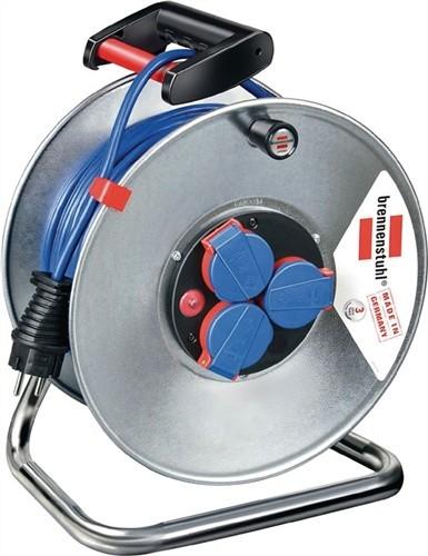 Kabeltrommel 25m N05V3V3-F3G1,5mm2 3fach Steckdose/Thermostat IP44Garant S240
