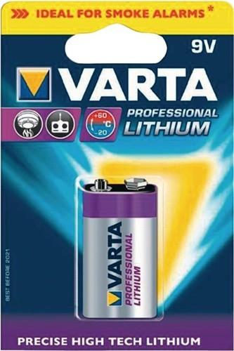 Spezialbatterie 9V 1200mAh 6122 26,5x492x17,5mm Lithium VARTA