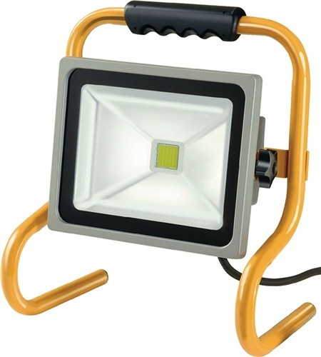 Chip-LED Leuchte 80W 5m H07RN-F 3G1,0 IP65 5600lm Stahlrohrgestell schwenkbar