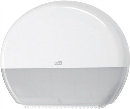 Toilettenpapierspender H360xB437xT133mm weiß f.Jumborollen