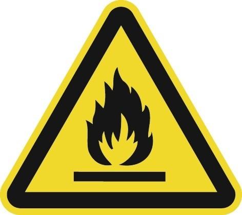 Schild feuergefährliche Stoffe 200x200mm 3-eckig Ku.ASR A1.3 DIN EN ISO 7010