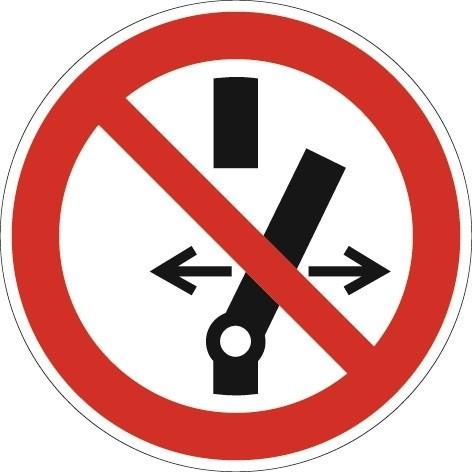 Schild Schalten verboten D.200mm Ku. rot/schwarz ASR A1.3 DIN EN ISO 7010