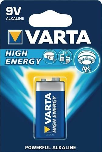 Batterie High Energy 9V E-Block 550mAh V-ALK04922 VARTA 1St./Blister