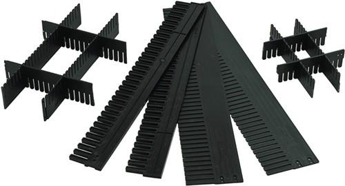 Unterteiler anthrazit L.1150xH.80mm S.5mm zuschneidbar 10St./VE