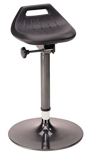 Stehhilfe Profi m.Tellerfuß standfest anthrazit Sitz-H.650-850mm BIMOS