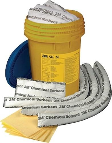 Notfallbox f.Chemikalien SK26 25tlg. z.Wandbefestigung 3M