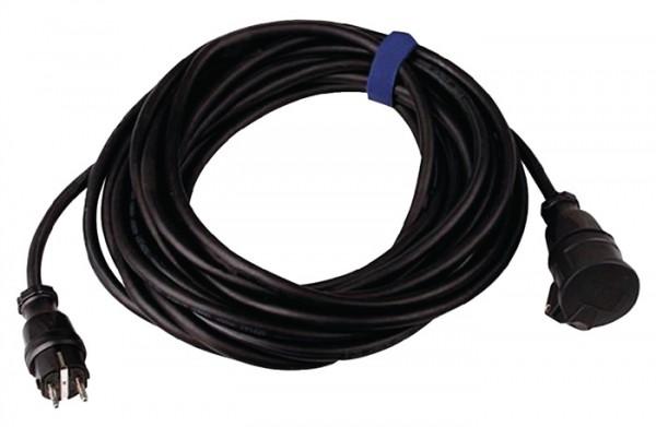 Gummiverlängerungskabel H07RN-F3x2,5mm2 L.50m schwarz IP44 SIROX f.innen u.außen