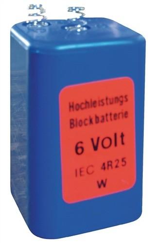 Blockbatterie 4R25 Spannung 6V