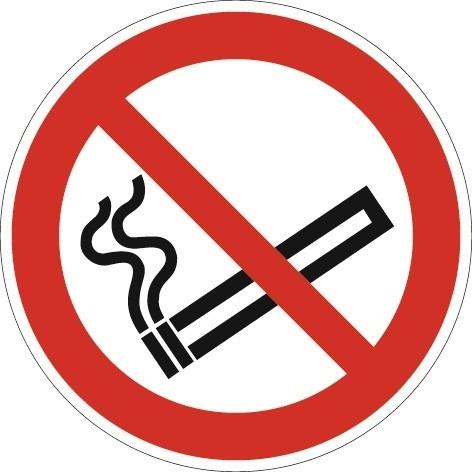 Schild Rauchen verboten D.200mm Kunststoff rot/schwarz ASR A1.3 DIN EN ISO 7010