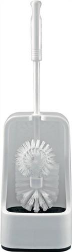 WC-Garnitur weiß Kunststoff Bürste mit Spülrandreiniger