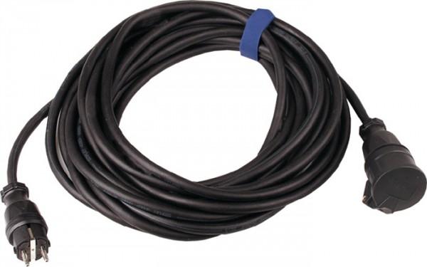 Gummiverlängerungskabel H07RN-F3x2,5mm2 L.5m schwarz IP44 SIROX f.innen u.außen