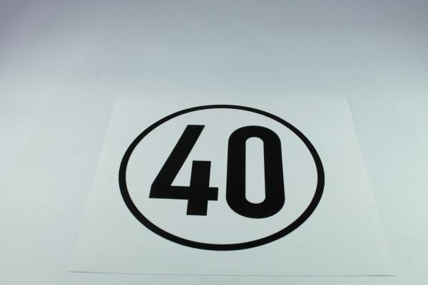 Geschwindigkeitsschild - 40 km