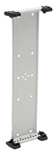 Wandhalter leer RAL7035 f.10Sichttafeln a.Stahlblech lichtgrau