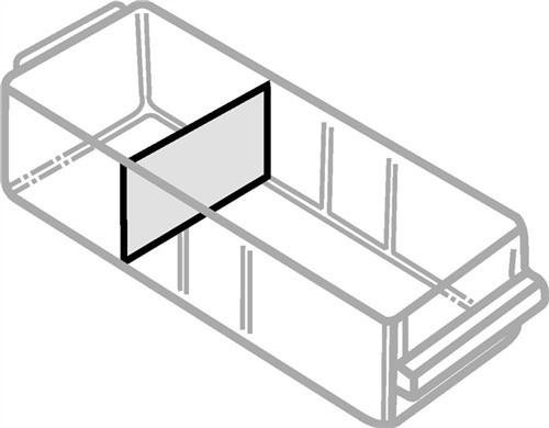 Trennwandsortiment 24tlg. B.87xH.57mm f.Schubl. Typ B klar
