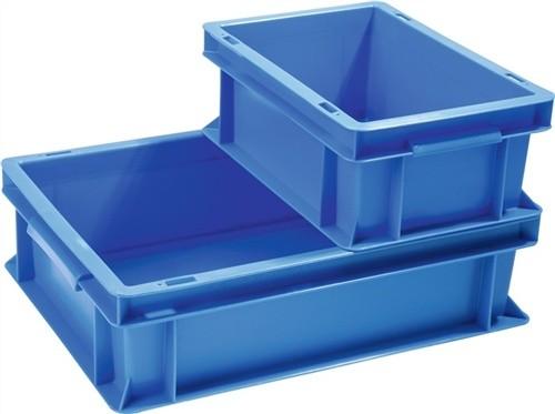 Transportstapelbehälter 33l PP blau Seitenwände geschl. Durchfassgriff PROMAT