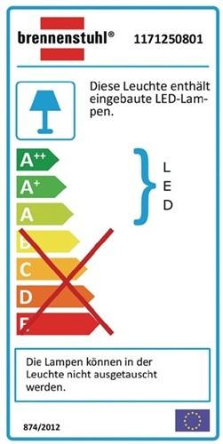 Chip-LED Leuchte 80W f. Wandmontage IP65 5600lm Alum.-Druckguss