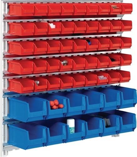 Wandschiene H1000xB1010mm m.7 Schienen 45xMK5 rot 12xMK4 blau
