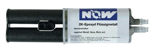Flüssigmetall 2K-Epoxyd 25ml Zwillingsspritze NOW b.+120Grad C