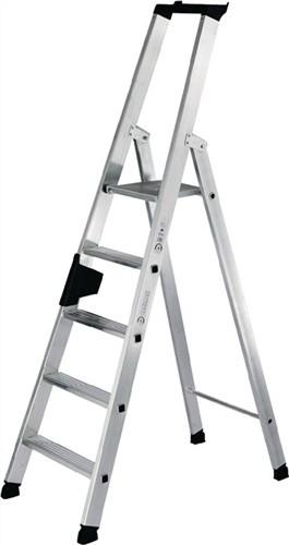 Stufenstehleiter Alu.12Stufen 1seitig Leiter-H.3450mm u.äußereB.720mm