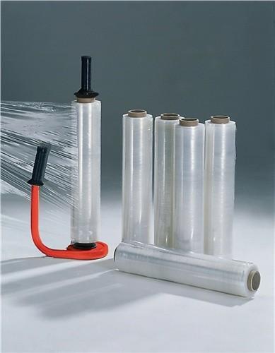 Stretchfolien-Set 1 Abroller, 6 Rollen Stretchfolie 20 my L 300 m, B 450 mm