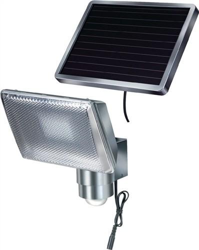 Solarleuchte mit Bewegungsmelder sep.Solarmodul Alu-Gehäuse 8x0,5 W LED s