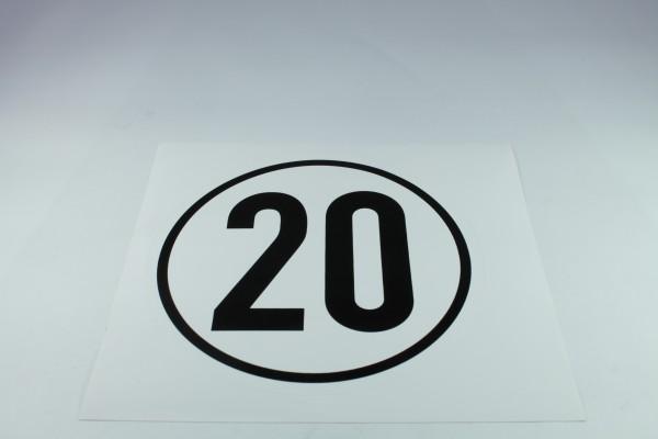 Geschwindigkeitsschild - 20 k