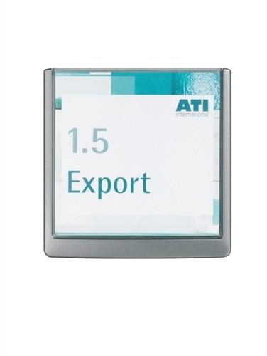 Türschild ABS B.149xH.148,5mm Sichtfenster Acryl Rücken graphit