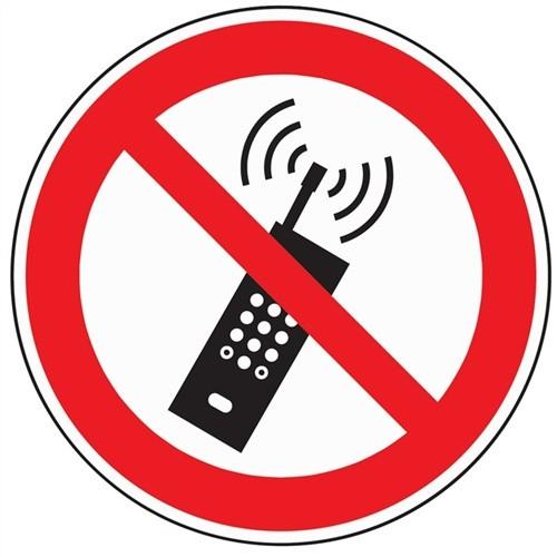 Schild Mobilfunk verbot. D.200mm Kunststoff rot/schwarz