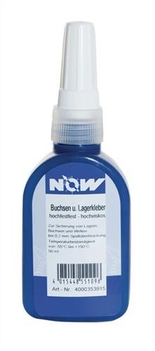 Buchsen-/Lagerkleber hochfest 50ml Flasche NOW grün