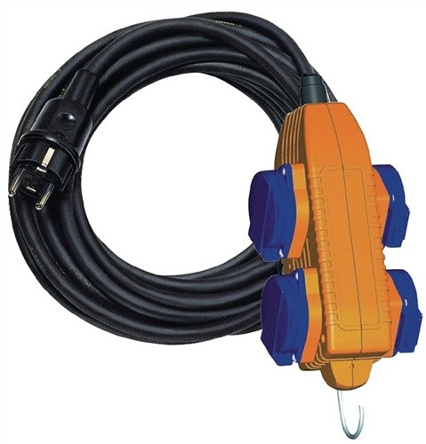 Gummiverlängerungskabel m.Powerblock H07RN-F BRENNENSTUHL 3x1,5mm2