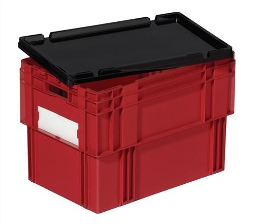 Stülpdeckel schwarz L.600xB.400mm für Drehstapelbehälter PP