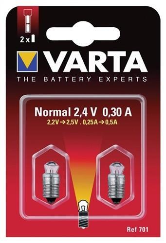 Glühlampe 3,6V 0,75A 752 Krypton m.Stecksockel VARTA 2St./Blister