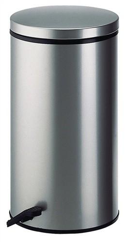 Tretabfallsammler 32l Stahl silber H.570xD.310mm Deckel silber